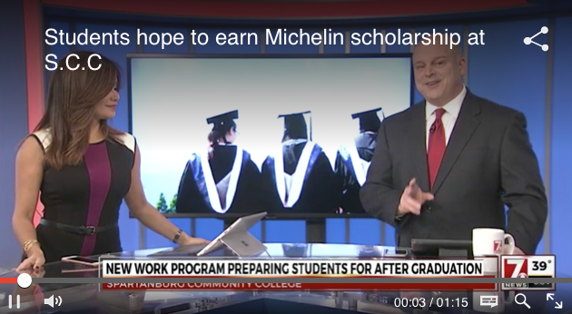 Michelin Scholars covered on WSPA photo